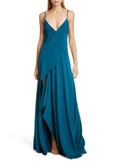 CUSHNIE Drape Panel Gown