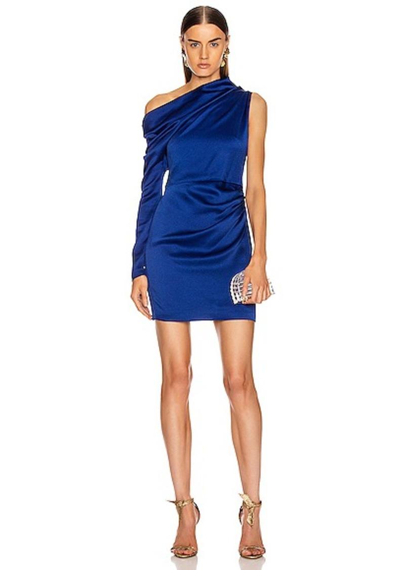 Cushnie Off the Shoulder Single Sleeve Mini Dress