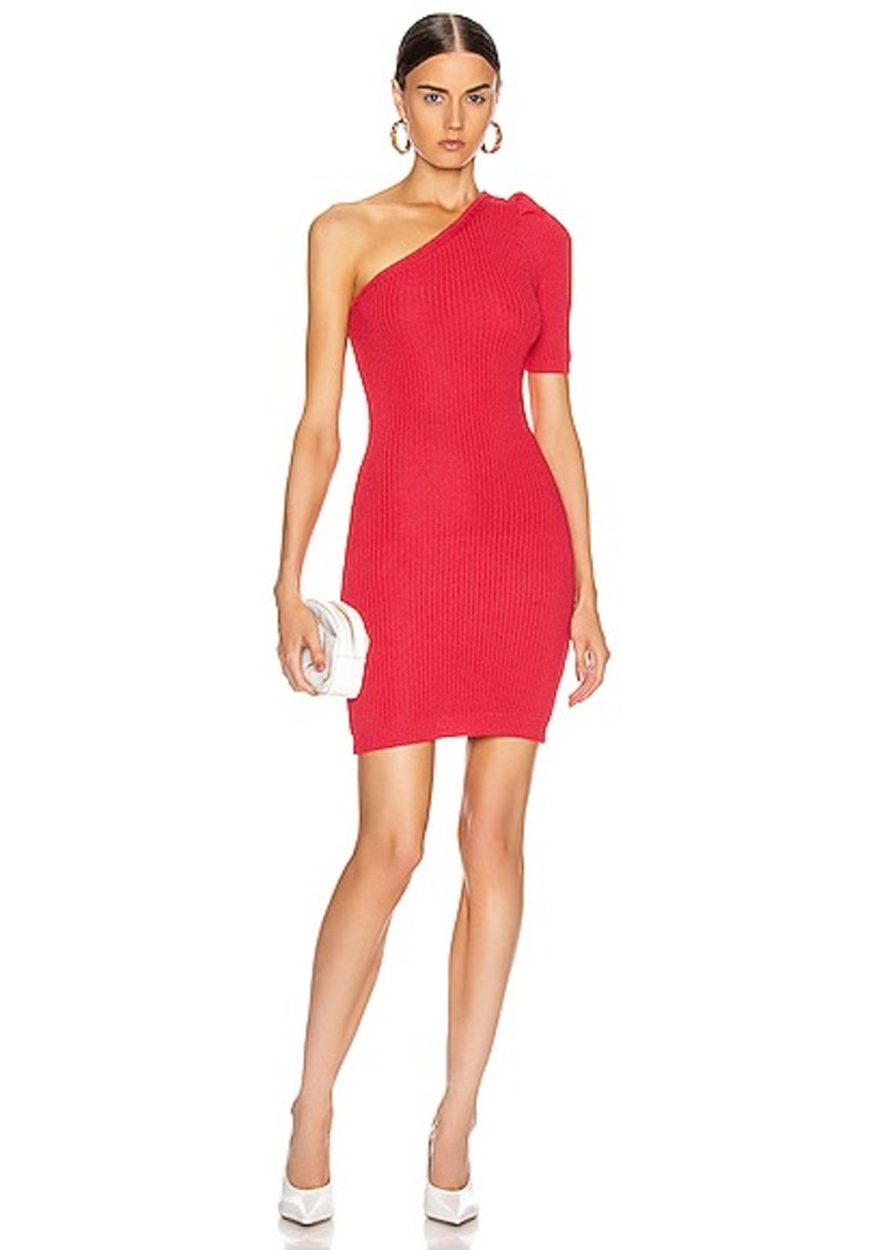 Cushnie One Shoulder Knit Mini Dress