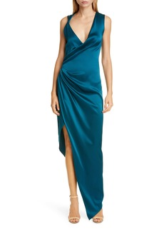 CUSHNIE Punge Neck Sleeveless Silk Gown