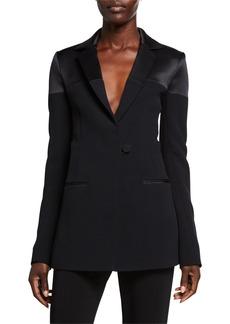 CUSHNIE Satin-Panel Cady Jacket