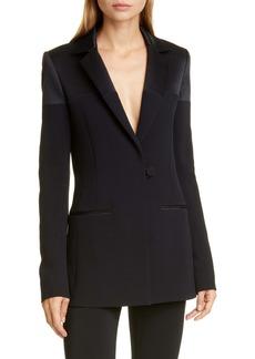 CUSHNIE Silk Charmeuse Panel Jacket