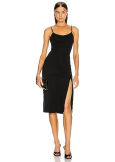 Cushnie Sleeveless Crystal Chain Pencil Dress