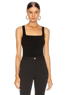 Cushnie Square Neck Knit Tank Top