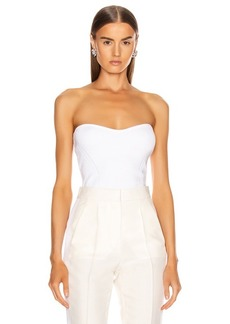 Cushnie Strapless Fitted Knit Top