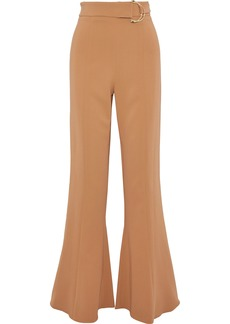 Cushnie Woman Belted Crepe Flared Pants Camel