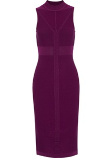 Cushnie Woman Cable-knit Dress Plum