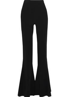Cushnie Woman Crepe Flared Pants Black