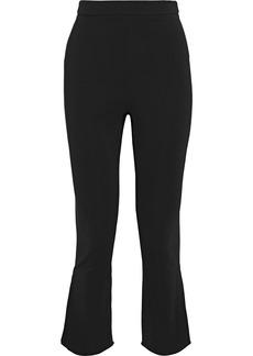 Cushnie Woman Cropped Crepe Flared Pants Black