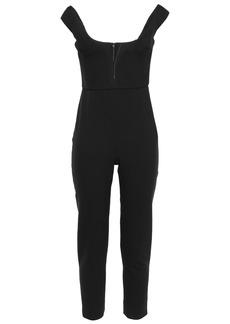 Cushnie Woman Cropped Crepe Jumpsuit Black