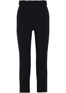 Cushnie Woman Cropped Crepe Straight-leg Pants Black