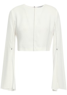 Cushnie Woman Cropped Crepe Top White
