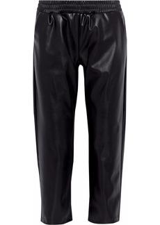Cushnie Woman Cropped Faux Leather Straight-leg Pants Black