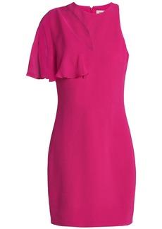 Cushnie Woman Chiffon-paneled Cutout Stretch-crepe Mini Dress Fuchsia