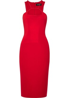 Cushnie Woman Cutout Crepe Dress Red