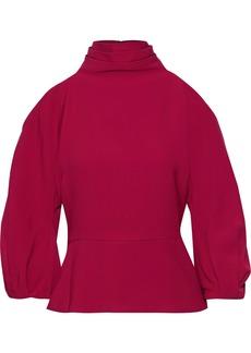 Cushnie Woman Raya Cold-shoulder Crepe Top Fuchsia