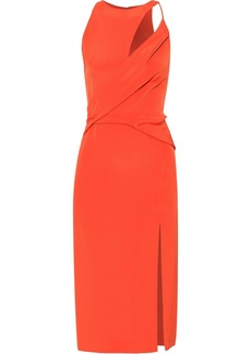 Cushnie Woman Cutout Draped Silk-crepe Dress Bright Orange