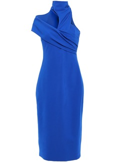 Cushnie Woman Cutout Ponte Dress Royal Blue
