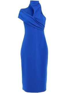 Cushnie Woman Cutout Ponte Dress Royal Blue