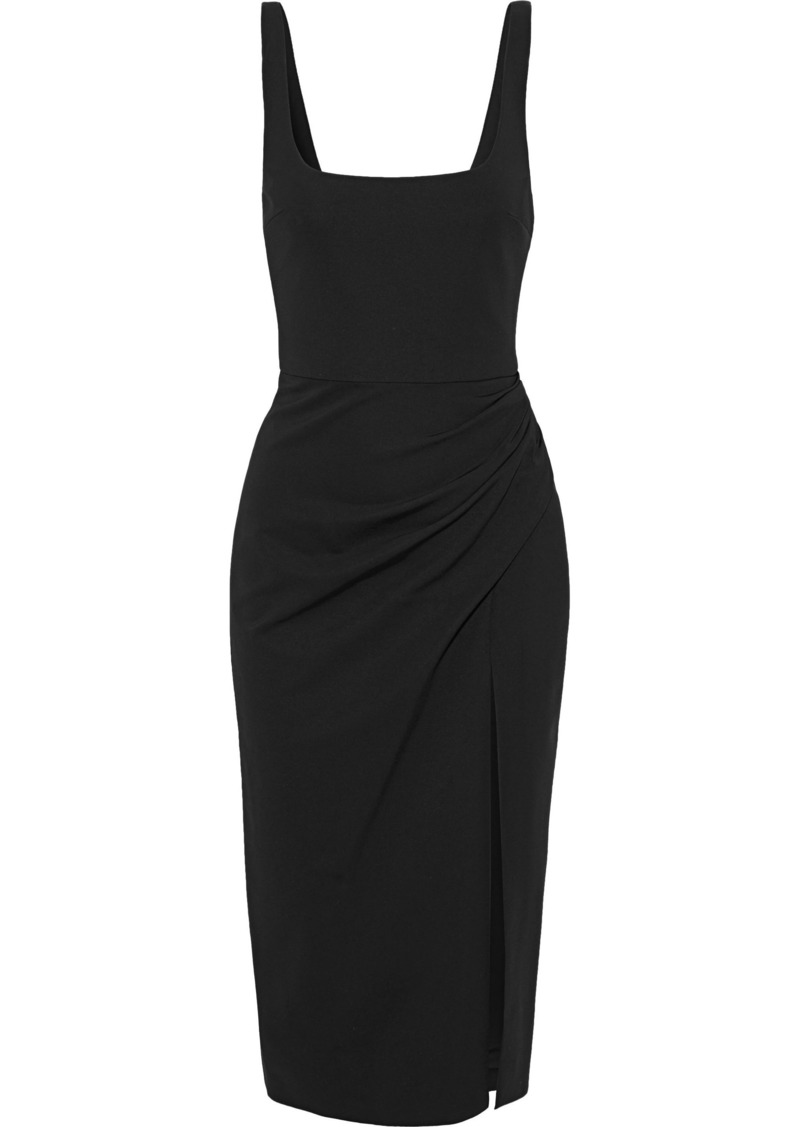 Cushnie Woman Draped Stretch-jersey Dress Black