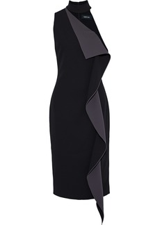 Cushnie Woman Elettra One-shoulder Ruffled Cady Dress Black