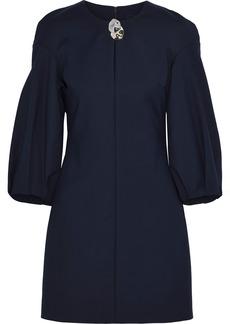 Cushnie Woman Embellished Crepe Mini Dress Navy