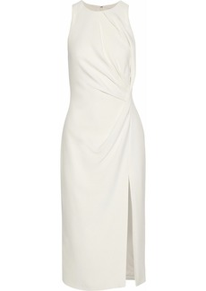 Cushnie Woman Gathered Cady Dress Off-white