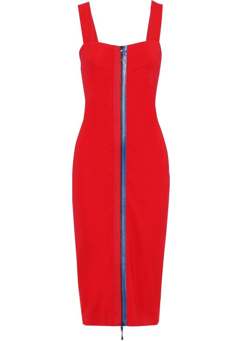 Cushnie Woman Grosgrain-trimmed Cady Midi Dress Red