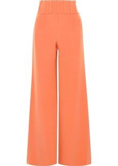 Cushnie Woman Jade Silk-crepe Wide-leg Pants Orange