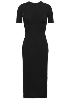 Cushnie Woman Burnout-effect Stretch-knit Dress Black