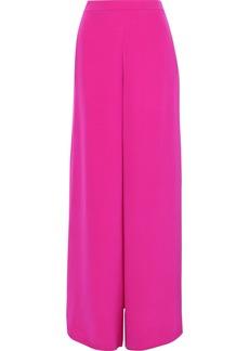 Cushnie Woman Nelle Split-side Silk-satin Wide-leg Pants Fuchsia