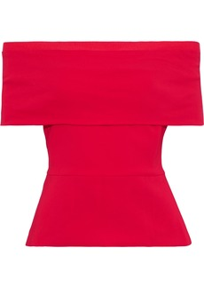 Cushnie Woman Off-the-shoulder Cady Top Crimson