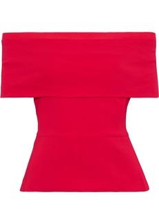 Cushnie Woman Off-the-shoulder Cady Top Crimson