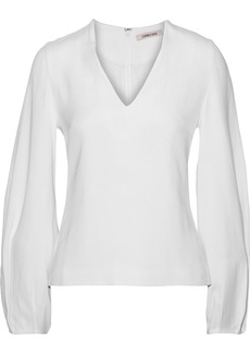 Cushnie Woman Pleated Crepe Blouse White