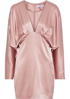 Cushnie Woman Pleated Draped Silk-satin Mini Dress Blush