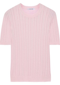 Cushnie Woman Pointelle-knit Top Baby Pink