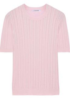 Cushnie Woman Pointelle-knit Top Baby Pink