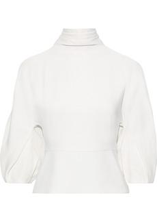 Cushnie Woman Raya Cold-shoulder Crepe Top White