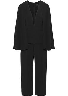 Cushnie Woman Scarlett Cropped Cape-effect Cady Jumpsuit Black
