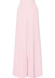 Cushnie Woman Silk-cady Wide-leg Pants Baby Pink