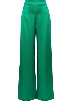 Cushnie Woman Silk-satin Wide-leg Pants Jade