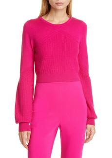 CUSHNIE Wool, Silk & Cashmere Crop Sweater