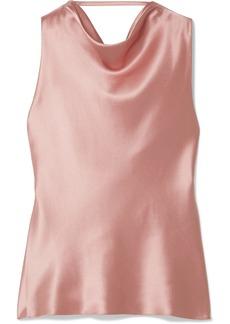 Cushnie Draped Silk-satin Top