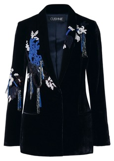 Cushnie Embellished Velvet Blazer
