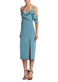 Cushnie Et Ochs Adela Silk Ruffle Dress