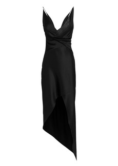 Cushnie Et Ochs Black Wraparound Midi Dress