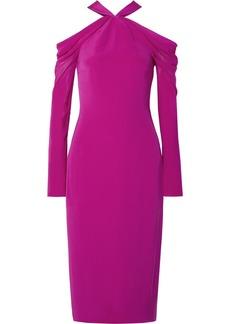 Cushnie Et Ochs Cold-shoulder Silk Crepe De Chine Midi Dress