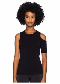 Cushnie Et Ochs Crew Neck Knit Top with Single Cold Shoulder and S