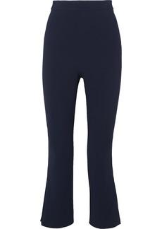 Cushnie Cropped Pleated Crepe Straight-leg Pants
