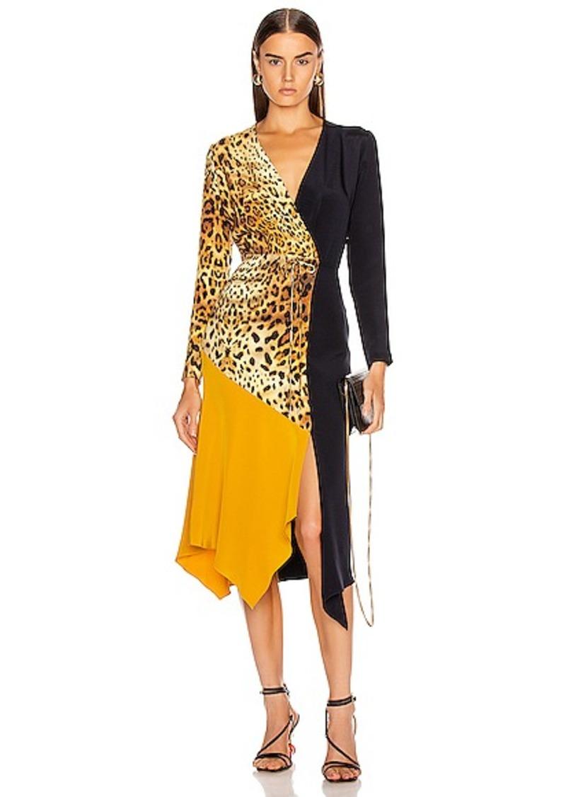 Cushnie Color Block Long Sleeve Dress